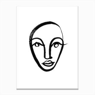 Face 4 Canvas Print