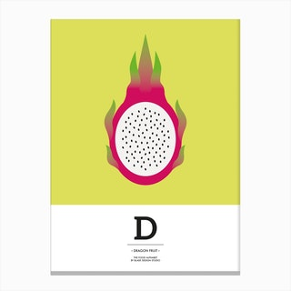 The Food Alphabet – D Canvas Print