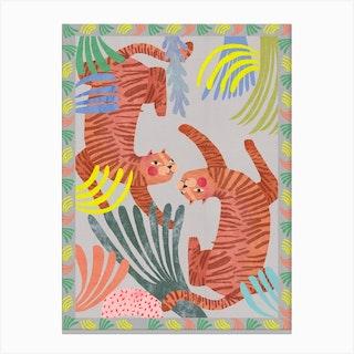 Tiger Carpet Canvas Print
