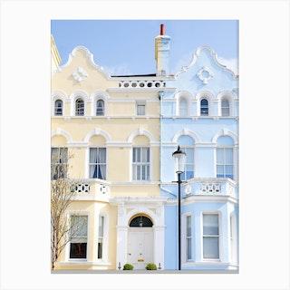 Pastel House Notting Hill London Canvas Print