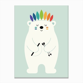Be Brave Polar Canvas Print