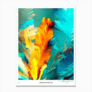 No 3 Perfection Prints Negroni Canvas Print