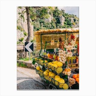 Amalfi Coast Drive Xv Canvas Print