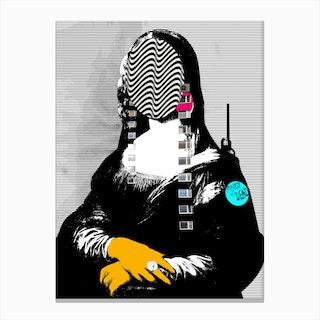 Mona Lisa Street PopArt Canvas Print
