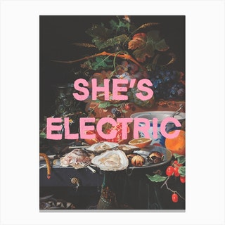 Shes Electric Canvas Print