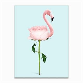 Flamingo Flower Canvas Print