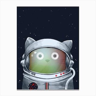 Cat Astronaut Canvas Print