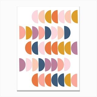 Happy Half Circles Canvas Print
