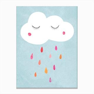 Sleepy Cloud Canvas Print