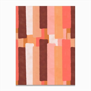 Line In Coral Canvas Print