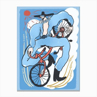Bicycle Rodeo Canvas Print