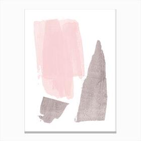 Pink Grey Canvas Print