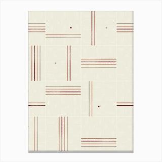 Minimal Rustic Tiles 01 Canvas Print
