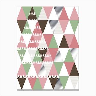 Geometric Pattern Tree Canvas Print