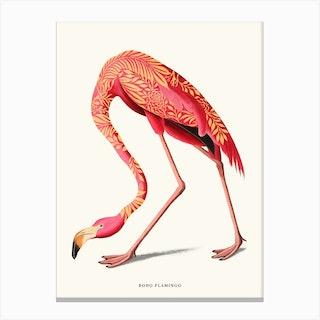 Boho Flamingo Canvas Print