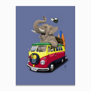 Pack the Trunk (Colour) Canvas Print