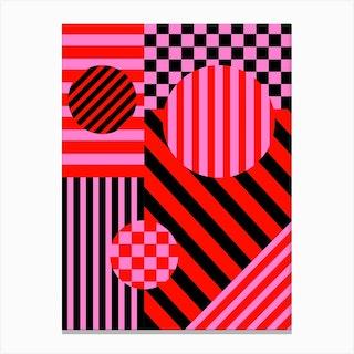 Checks And Stripes 1 Canvas Print