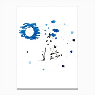 Try To Reach The Stars Canvas Print
