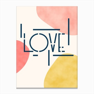 Pieces Of Love Canvas Print