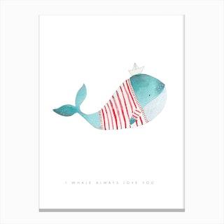 Whale Solo Canvas Print
