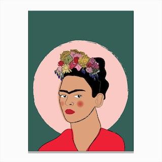 Frida Illustration Canvas Print
