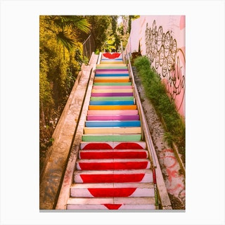 Michel Torena Stairs Canvas Print