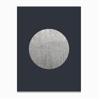 Silver Moon Blue Canvas Print