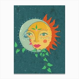 Sun And The Moon Canvas Print