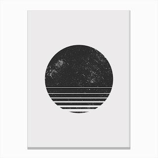 Round Space Canvas Print