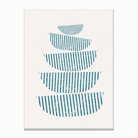 Scandi Stacked Bowls Canvas Print