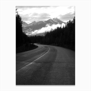 Take the Long Road Canvas Print