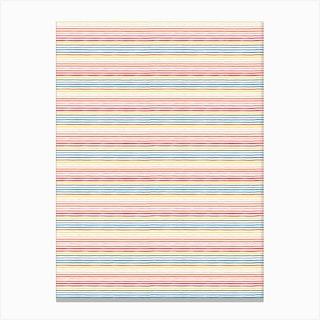 Marker Colorful Stripes Canvas Print