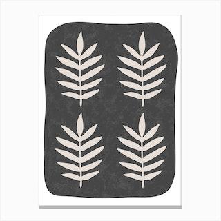 Black Palm Canvas Print