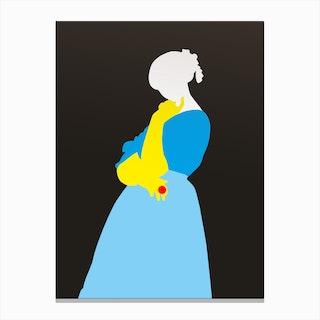 Pop Portrait · Ingres 1 Canvas Print