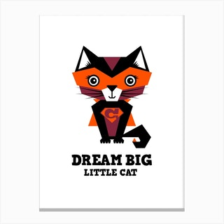 Dream Big Cat I Canvas Print