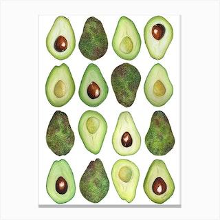 Repeat Pattern Avocado Canvas Print