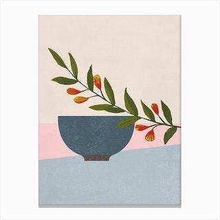 Green Branch Canvas Print