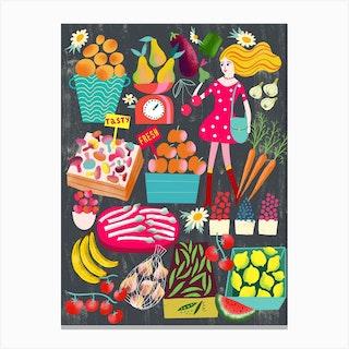 Tasty Fresh Market Canvas Print