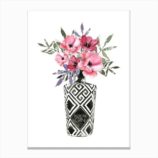 Blooms In Bottle Canvas Print
