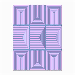 Around In Pink 2 Canvas Print