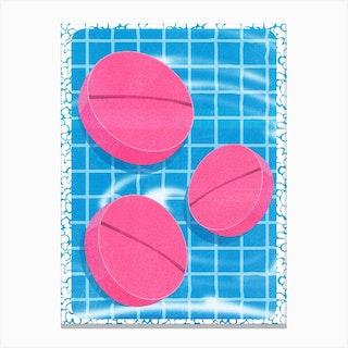 Summer Pool Pills Canvas Print