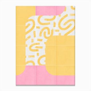 Sunny Doodle Tiles 01 Canvas Print