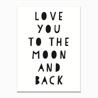 Love You To The Moon And Back Art Print Free Shipping Fy