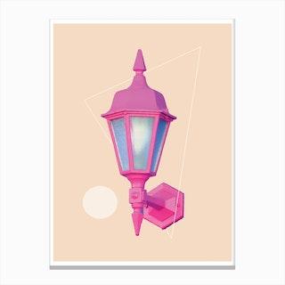 Pink Neon Lamp Canvas Print