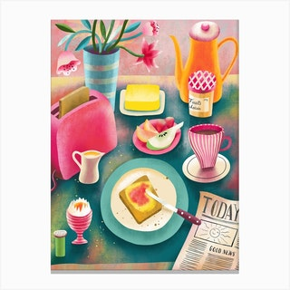 Good News Breakfast Canvas Print