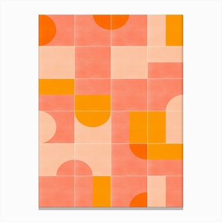 Retro Tiles 03 Canvas Print