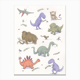 Dinosaur Party Canvas Print