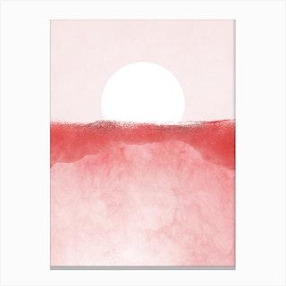 Minimal Landscape Pink 01 Canvas Print