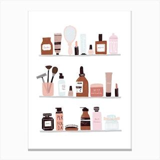 Make Up Shelfie Canvas Print