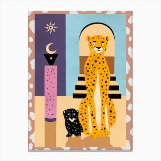 Family Of The Cheetah Canvas Print